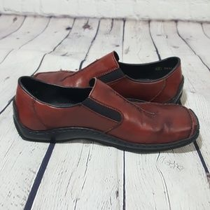 Rieker Remonte Burnt Red Leather Loafers 39 9 Shoe